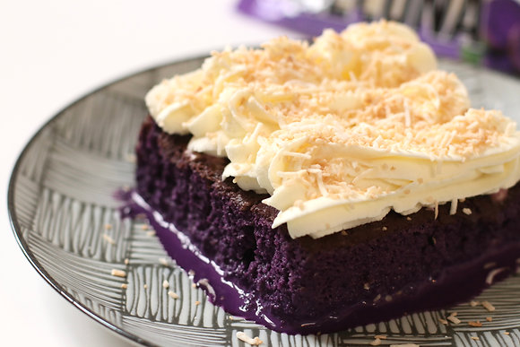 Toasted Coconut Ube Tres Leches