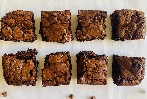 Fudgy Cookie Dough Chocolate Chip Brownie