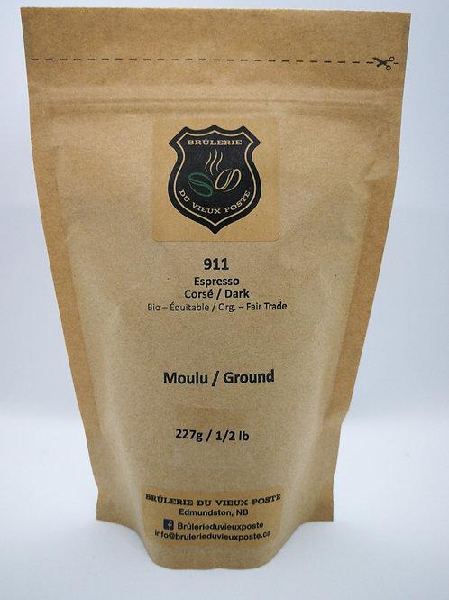 911 - 227g (1/2 lb)- Moulu