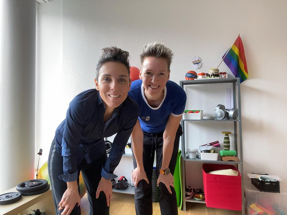 Lucie Petrelis and Vanessa Klaas in Luzern, Switzerland.
