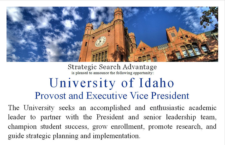 executive search firm higher education
