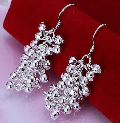 Silver Full Fill Orchid Drop Earring