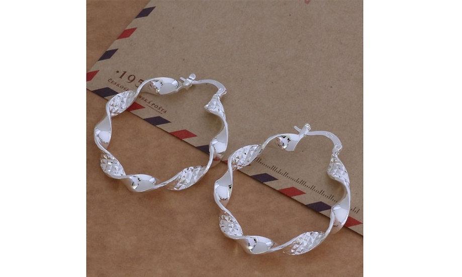 Silver Large Hoop Earrings