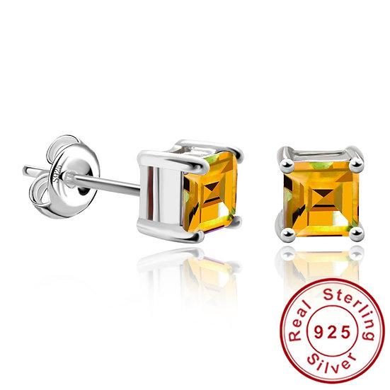 925 Sterling Silver Citrine Earrings