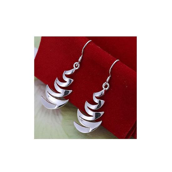 Sterling Silver Zig-Zag Drop Earring