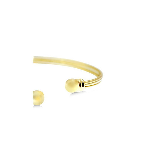 Multi-Band Gold Cuff Bracelet - 24K Gold-Plated