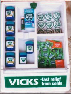 vicks table display samall