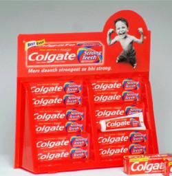 colgate tube display