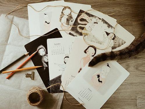 2019插畫年曆