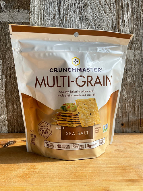 Multigrain Sea Salt Crackers, Crunch Master 4oz Bag