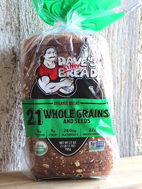 21 Grains Bread, Dave's Killer Bread