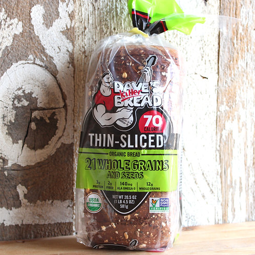 21 Whole Grains Thin Sliced Bread, Dave's Killer Bread