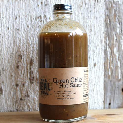 The Real Dill Green Chile Hot Sauce