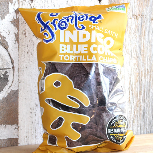 Indigo Blue Corn Tortilla Chips, Frontera, 10 oz
