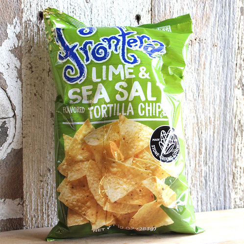 Lime & Sea Salt Tortilla Chips, Frontera, 10 oz