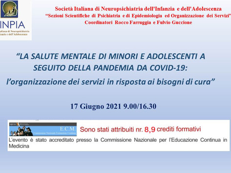 Webinar SINPIA ECM - 17 Giugno 2021 9.00/16.30