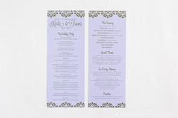 Gold Purple Wedding Ceremony Program