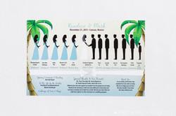 Silhouette Wedding Program Beach
