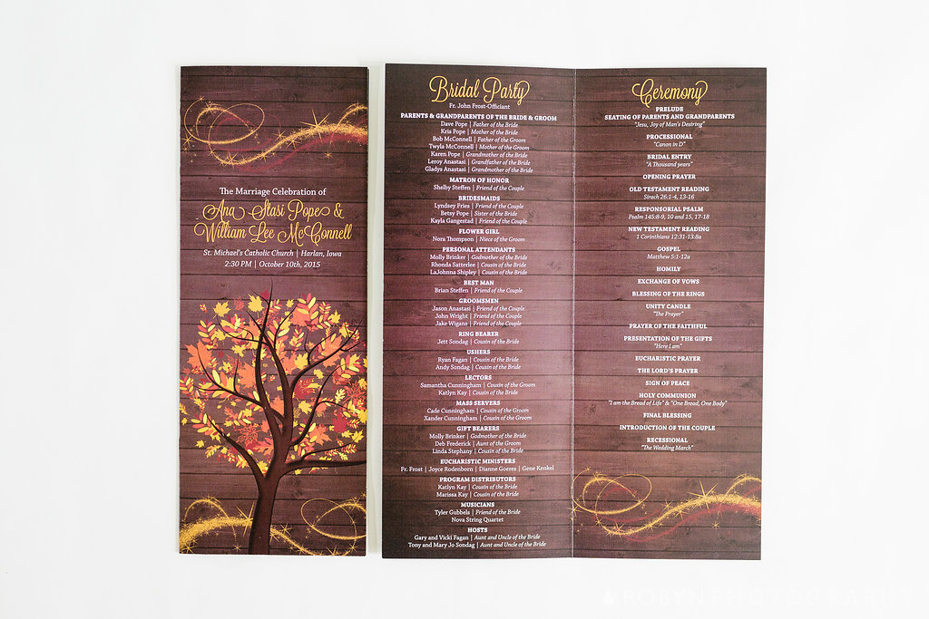 Windy Day Wedding Ceremony Program