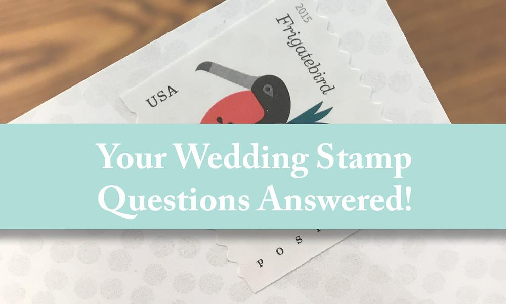 Wedding Stamp Questions FAQ, Stamp Questions Answered, EmDesign Iowa Wedding Invitations
