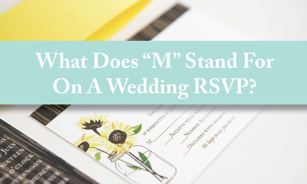 What does M stand for on a wedding rsvp? Cedar rapids iowa wedding rsvp, response card, reply card. EmDesign Iowa Wedding