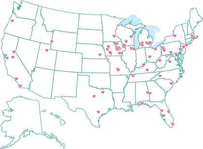 Map of EmDesign's service area