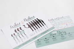Silhouette Wedding Ceremony Program