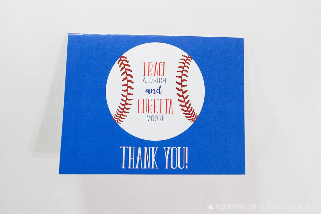 Batter Up Baseball Thank You Cards