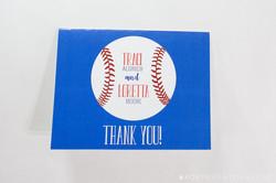 Batter Up Baseball Thank You Cards