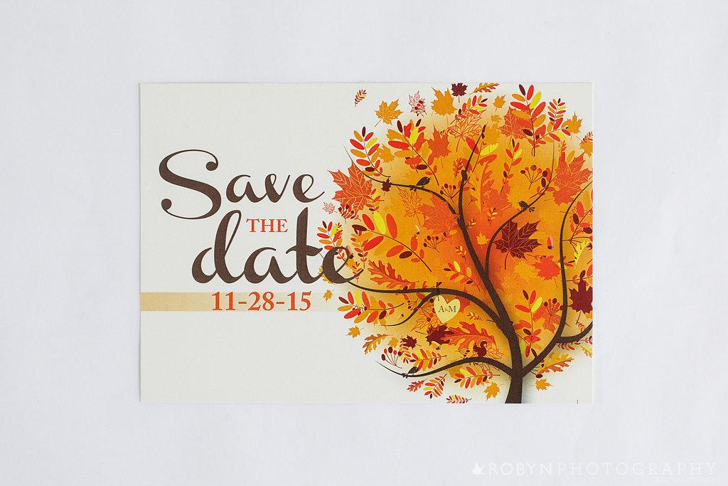 Adoring Autumn Save The Date