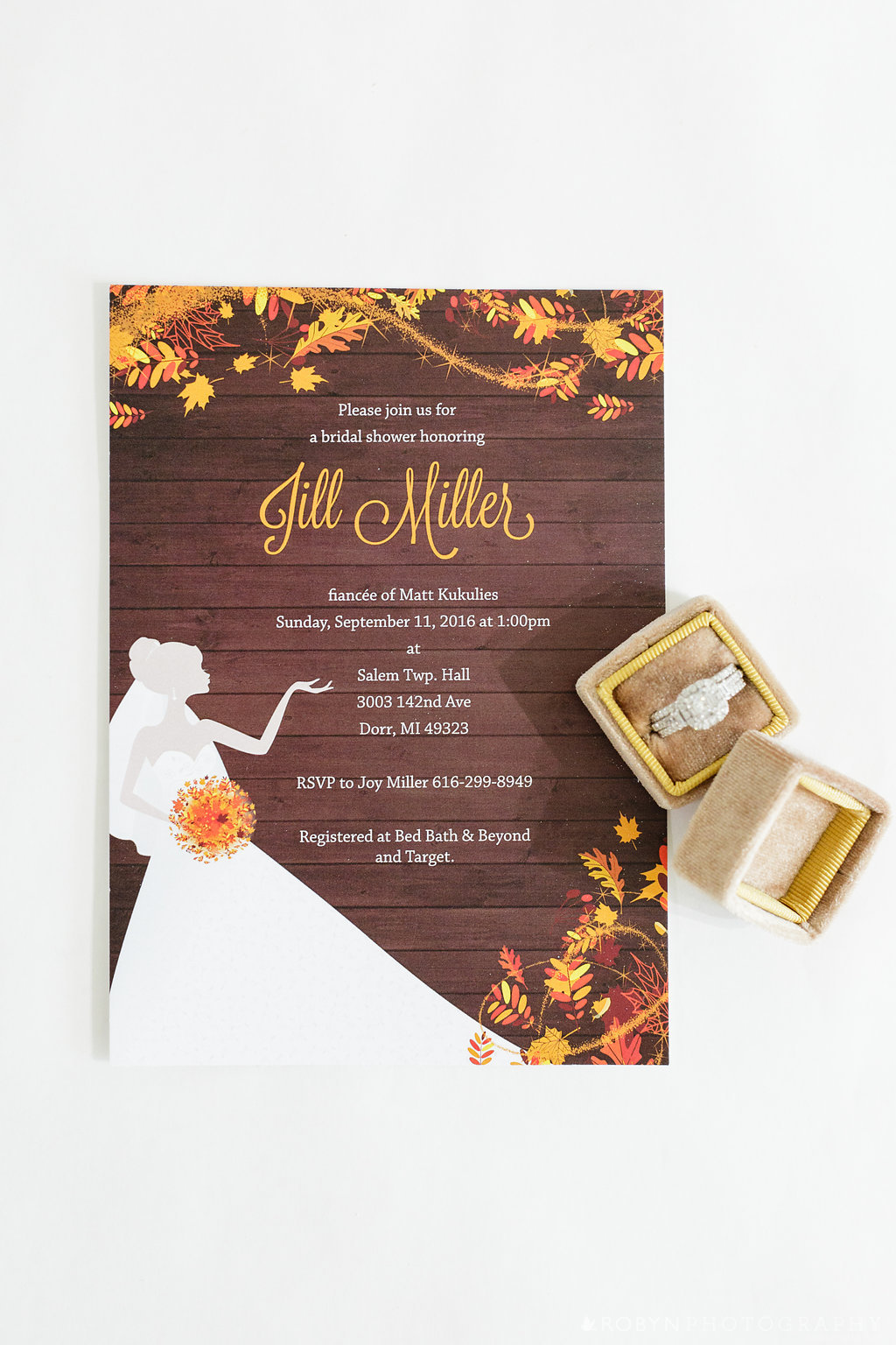 Windy Day Fall Shower Invitation