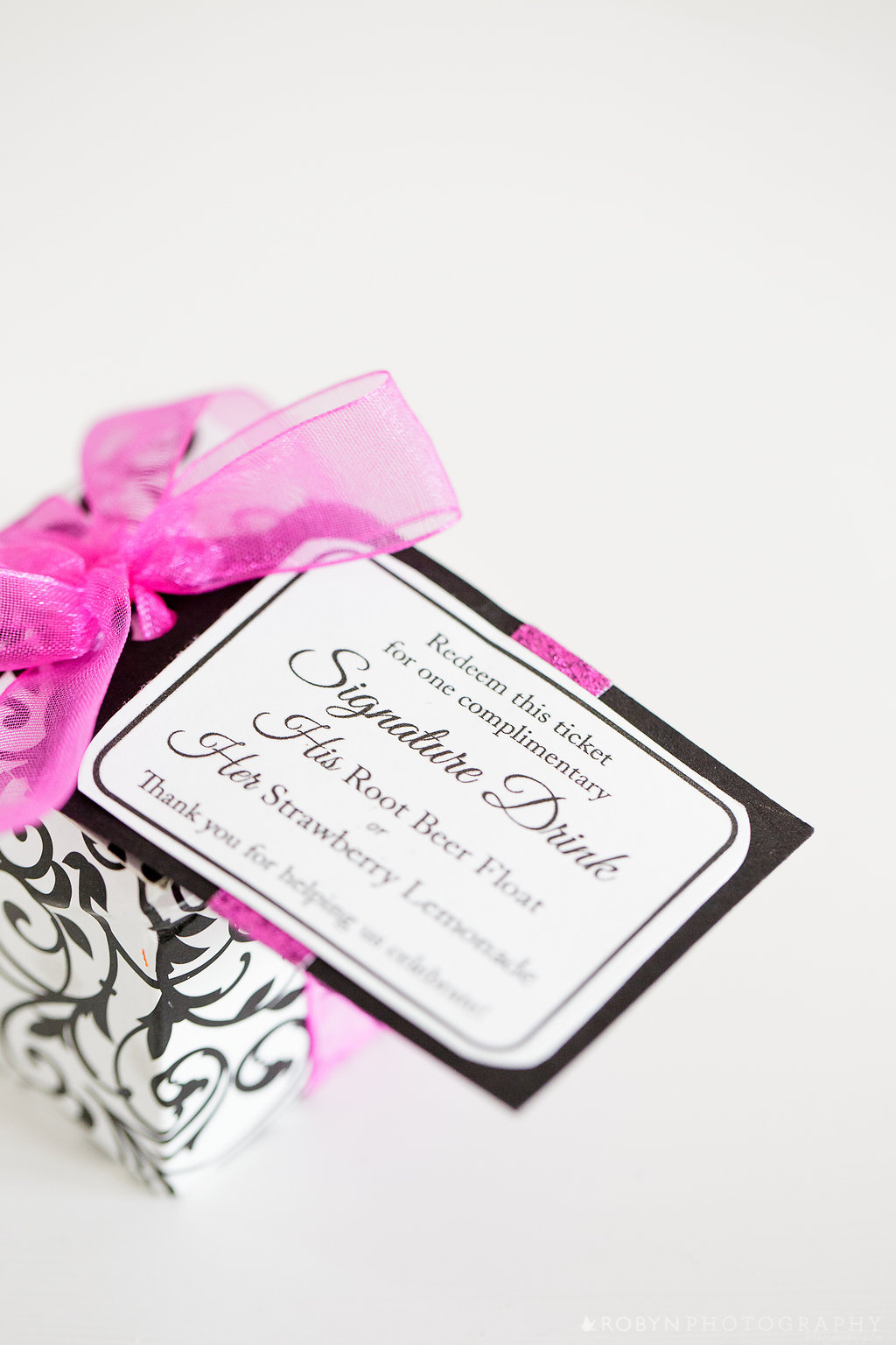 Favor Tags & Table Numbers