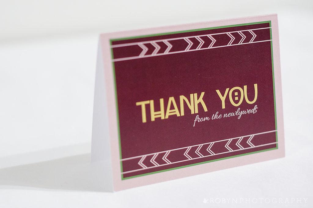 Geometric Pattern Thank You Card