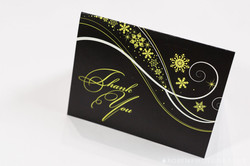 Winter Snow Swirl Thank You Card