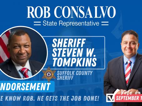 Sheriff Tompkins Endorses Rob Consalvo for State Representative
