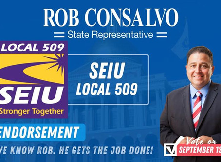 SEIU Local 509 Endorses Rob Consalvo for State Representative