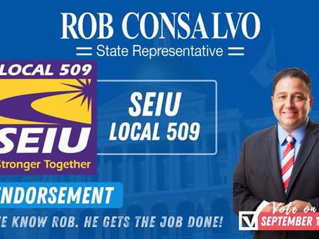 SEIU Local 509 Endorses Rob Consalvo for State Representative