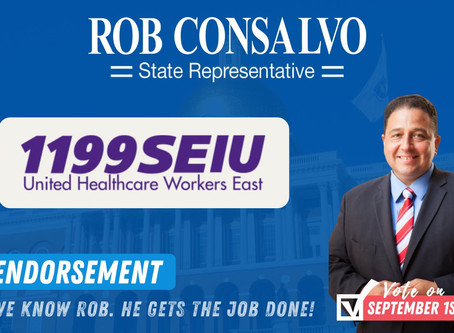 1199SEIU Endorses Rob Consalvo for State Representative