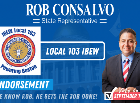 Local 103 IBEW Endorses Rob Consalvo for State Representative