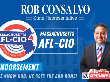 Massachusetts AFL-CIO Endorses Rob Consalvo