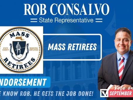 Mass Retirees Endorse Rob Consalvo for State Representative
