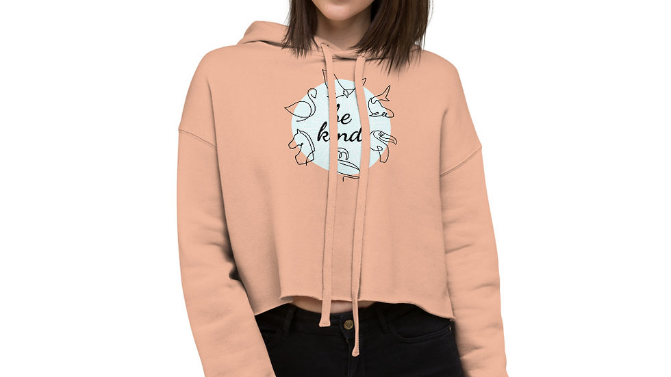 Be Kind Sparkles and Strength Crop Hoodie