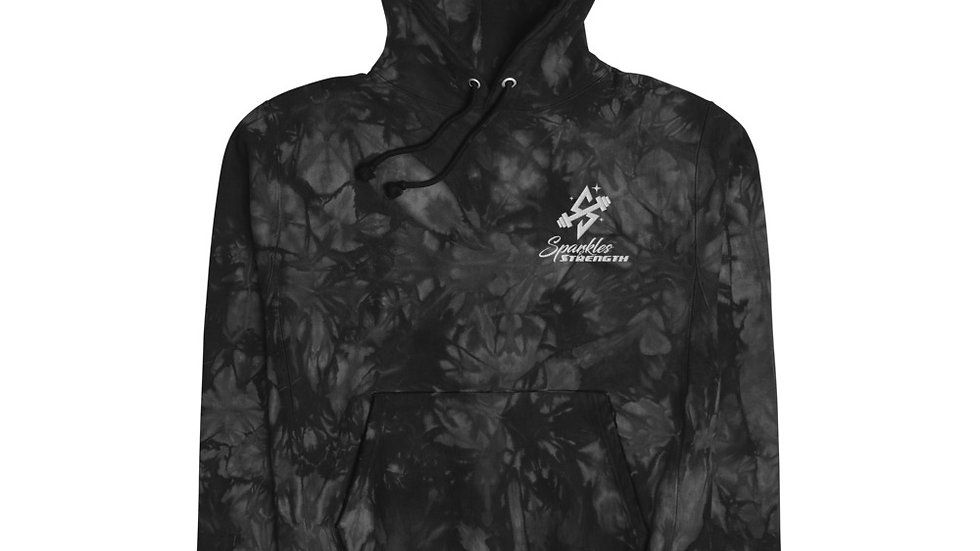 Sparkles and Strength Unisex Champion tie-dye hoodie