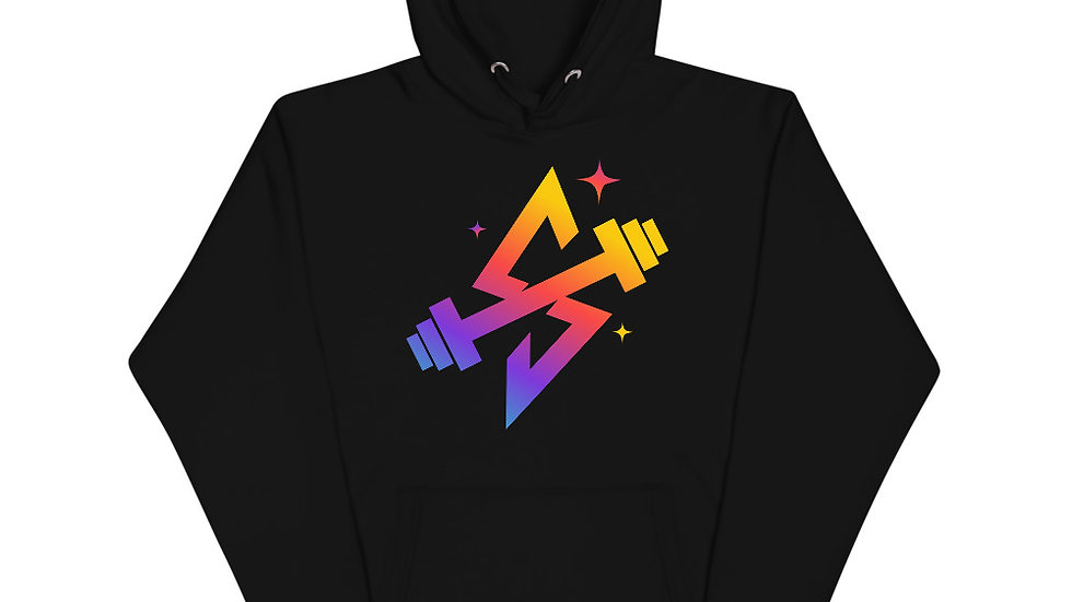 Sparkles and Strength Spectrum Logo Unisex Hoodie