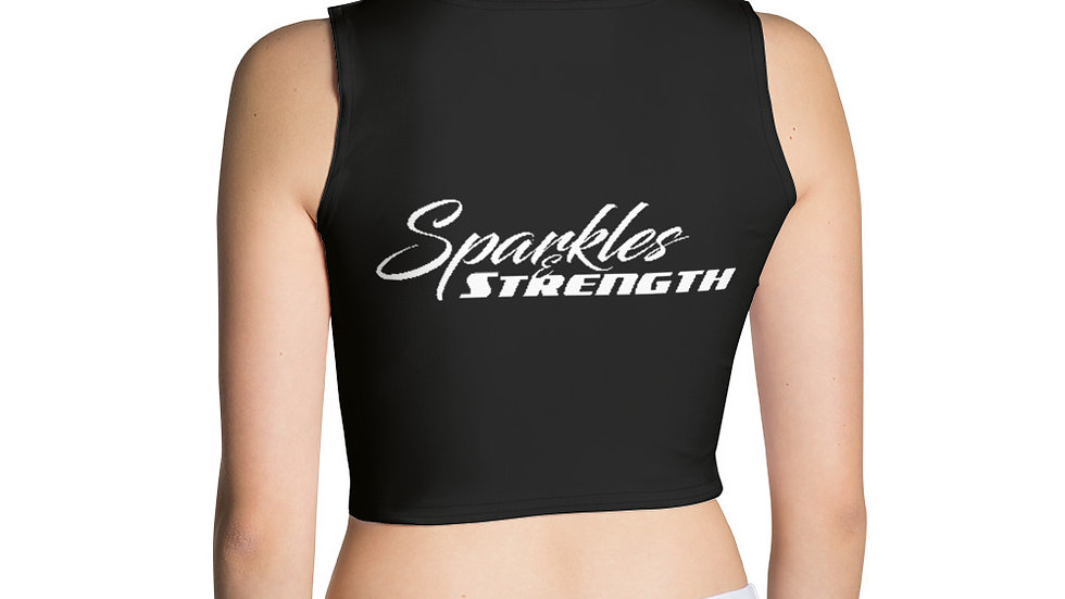 Sparkles and Strength Logo Crop Top