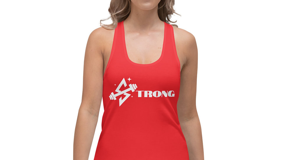 STRONG Sparkles and Strength Women's Racerback Tank