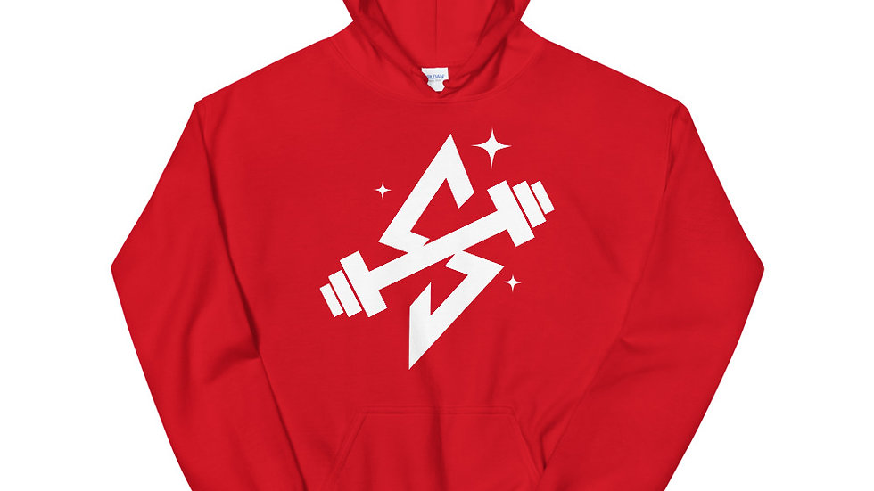 Sparkles and Strength White Logo Unisex Hoodie