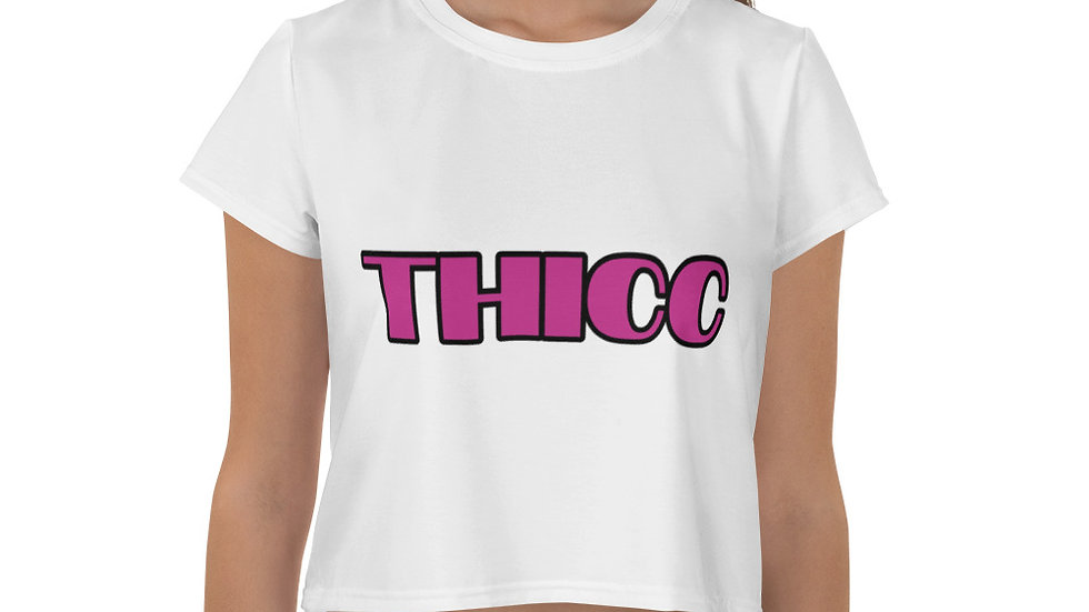 THICC Sparkles and Strength All-Over Print Crop Tee