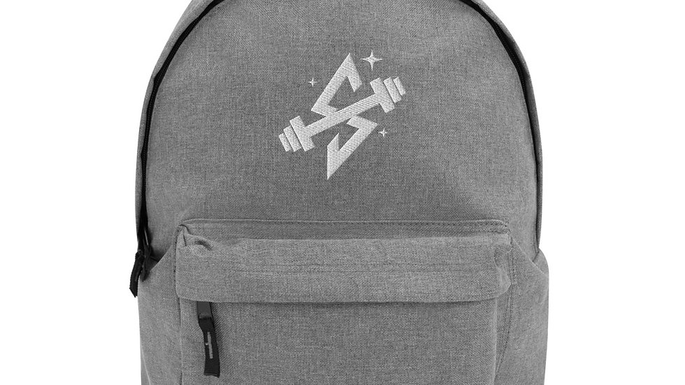 Sparkles and Strength Embroidered Backpack