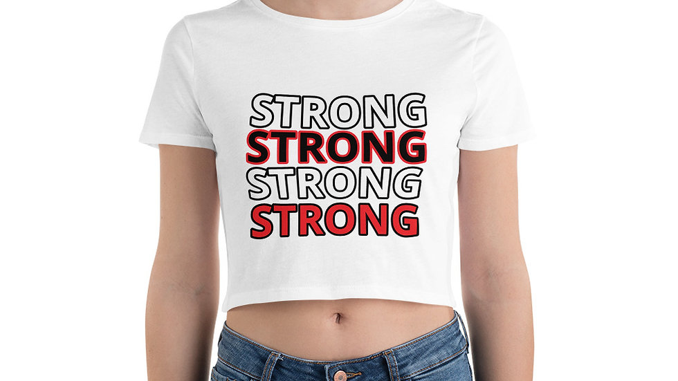 STRONG Sparkles and Strength Women's Crop Tee